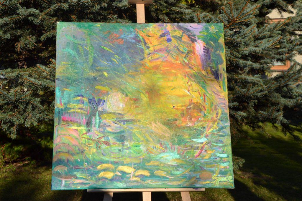 sztuka transcendentalna obrazy malowane z intencją vedic art zamów obraz warsztaty obraz duszy